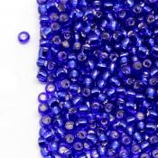 Японский Бисер TOHO Темно-синий cobalt внутр. серебр. [28]