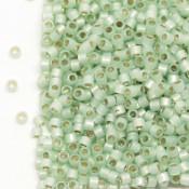 Японский Бисер MIYUKI Delica Silver Lined Light Moss Opal [DB1454]