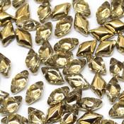 Чешские бусины GemDuo Crystal Amber