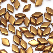 Чешские бусины GemDuo Bronze Gold