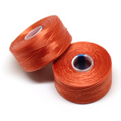 Нити, иглы, крючки Нить для бисера S-Lon AA оранжевая