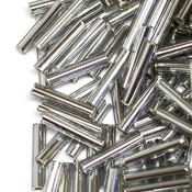 Японский Бисер TOHO Стеклярус черный бриллиант с серебряной серединкой (29)