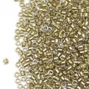 Японский Бисер TOHO Цилиндрический кристалл с золотой серединкой (262)