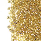 Японский Бисер TOHO Цилиндрический золотистый с серебряной серединкой (22)