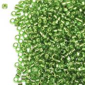 Японский Бисер TOHO Цилиндрический зеленый с серебряной серединкой (27)