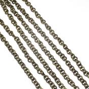 Фурнитура для украшений Цепочка античная бронза круглое звено