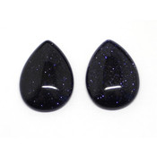 Кабошон имитация камня Авантюрин синий (капля)