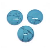 Кабошон имитация камня Бирюза голубая (круг)