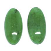 Кабошон прессованный камень Хризопраз (овал)