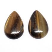 Кабошон прессованный камень Тигровый глаз (капля)