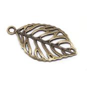 Фурнитура для украшений Подвеска Лист античная бронза