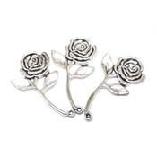 Фурнитура для украшений Подвеска Роза античное серебро
