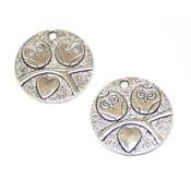 Фурнитура для украшений Подвеска Совы на ветке античное серебро