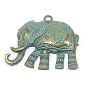 Фурнитура для украшений Подвеска Индийский слон бронза патина