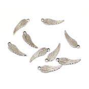Фурнитура для украшений Подвеска Крыло ангела античное серебро