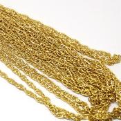 Фурнитура для украшений Цепочка Плетение Веревка Золото