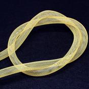 Ленты, шнуры Бижутерная сетка желтая
