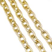 Фурнитура для украшений Цепочка фактурная крупное звено цвет золото