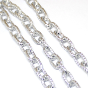 Фурнитура для украшений Цепочка фактурная крупное звено цвет серебро