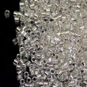 Японский Бисер MIYUKI Delica Silver Lined Crystal [DB041]