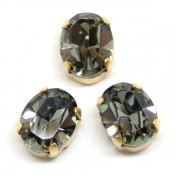 Овалы Swarovski 4128 в цапах Black Diamond